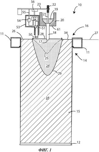 Способ устранения усадочной раковины в отливаемом слитке
