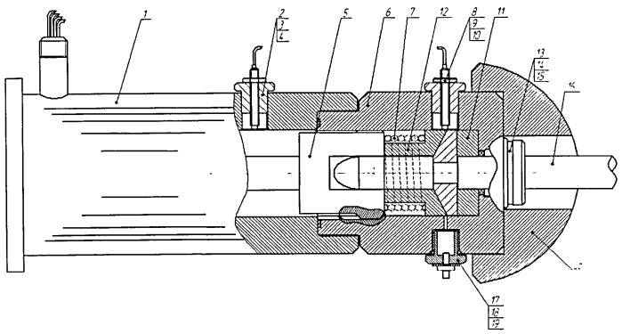 Устройство защиты паровой турбины с электроприводом регулирующих клапанов при установке на механизм коромысленного типа