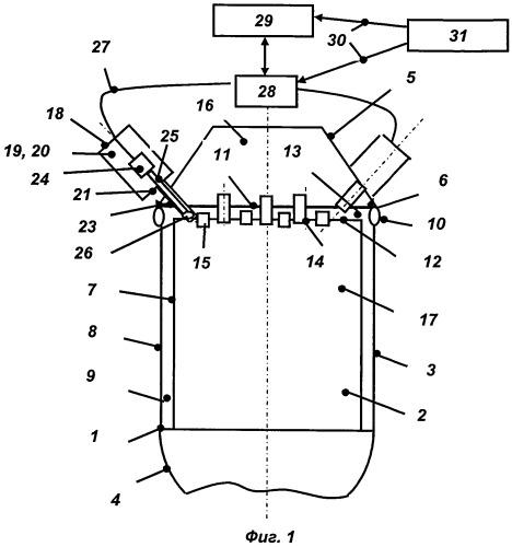 Устройство для лазерного воспламенения топлива в камере сгорания жидкостного ракетного двигателя