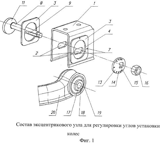 Устройство для регулировки углов установки колес независимой подвески