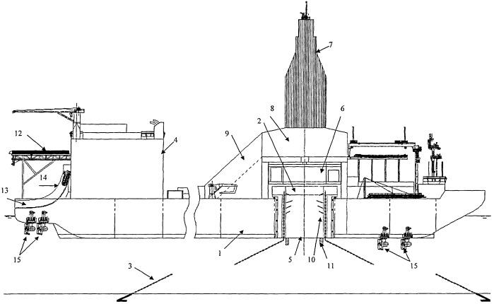 Самоходное буровое судно для работы в арктических условиях