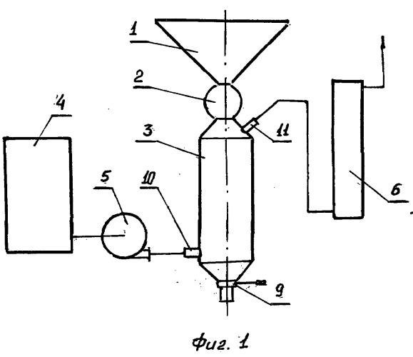 Устройство для обработки озоном сыпучих материалов