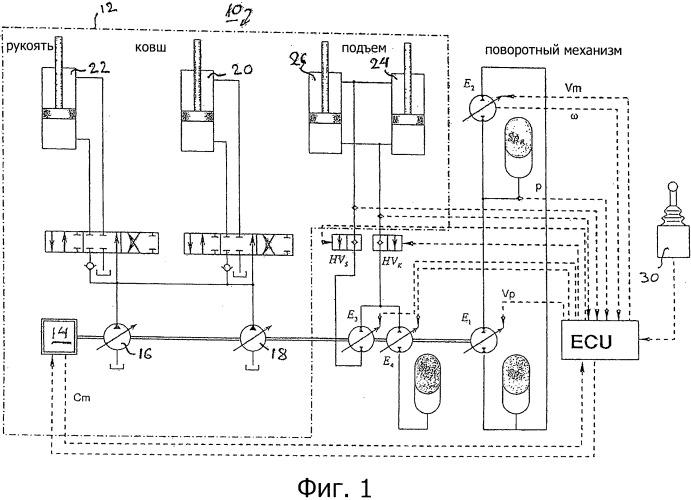 Привод гидравлического экскаватора