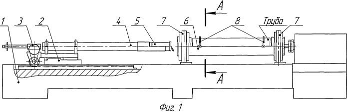 Установка для нанесения покрытия на внутреннюю поверхность труб