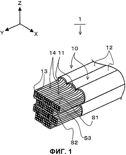 Крепежная структура электрических проводов и способ крепления электрических проводов