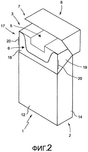 Упаковка, содержащая обертку с повторно закрываемым отверстием для извлечения, соответствующий способ упаковки и машина
