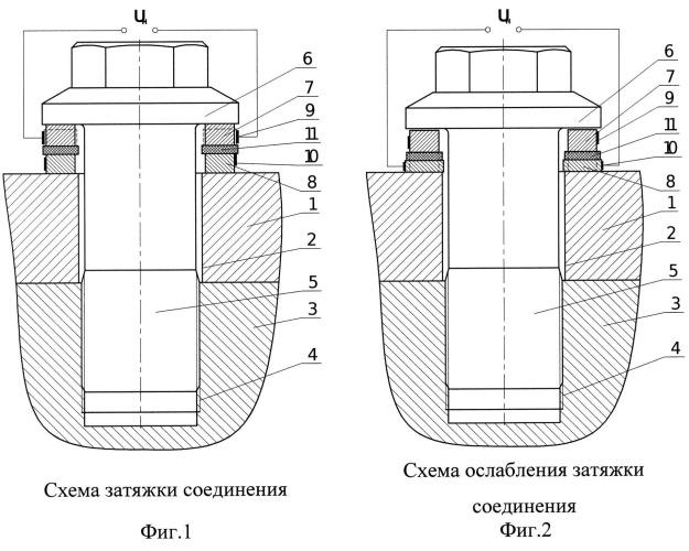 Способ и устройство затяжки и ослабления высоконагруженного резьбового соединения