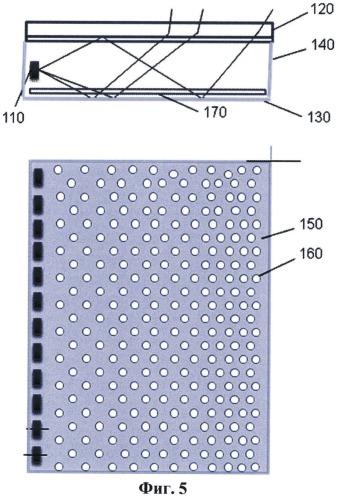Система боковой подсветки жидкокристаллических дисплеев (варианты)