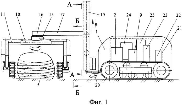 Способ разрушения негабаритов горных пород с использованием лазерного воздействия и роботизированный комплекс для его осуществления