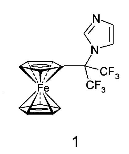1-(1,1,1,3,3,3-гексафтор-2-ферроценилпроп-2-ил)-имидазол, обладающий противоопухолевой активностью и способы его получения (варианты)