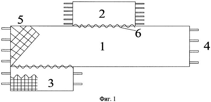 Транспонированный гибкий комбинированный ленточный жгут