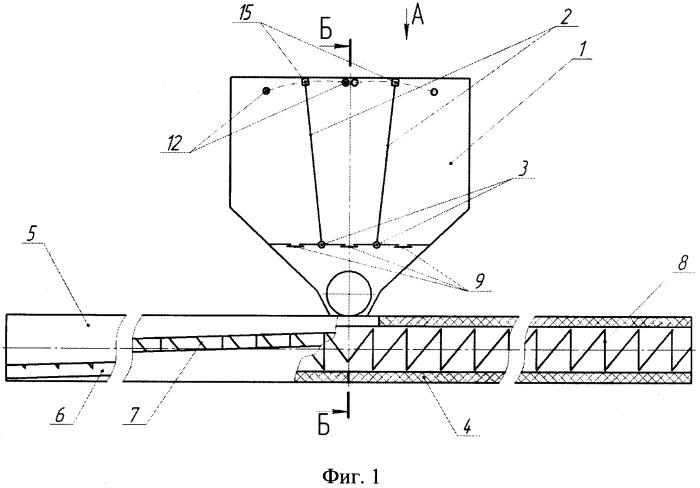 Спирально-шнековый смеситель-разбрасыватель минеральных удобрений