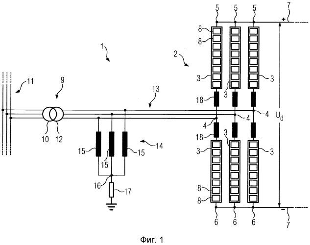 Устройство для преобразования электрического параметра, имеющее реактор с нулевой точкой
