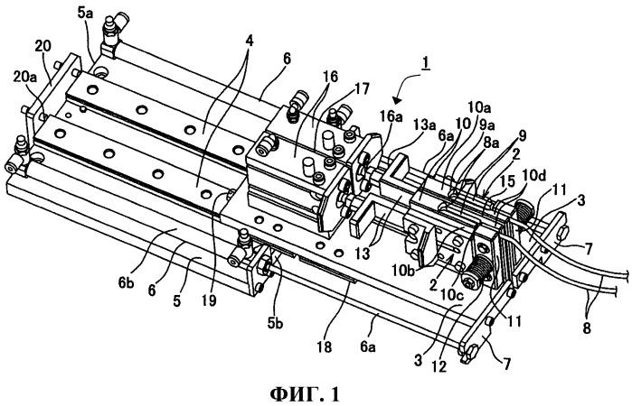 Механизм для приложения обратного натяжения при скручивании сплетенных электрических проводов и способ изготовления кабеля с витыми парами путем применения механизма для приложения обратного натяжения