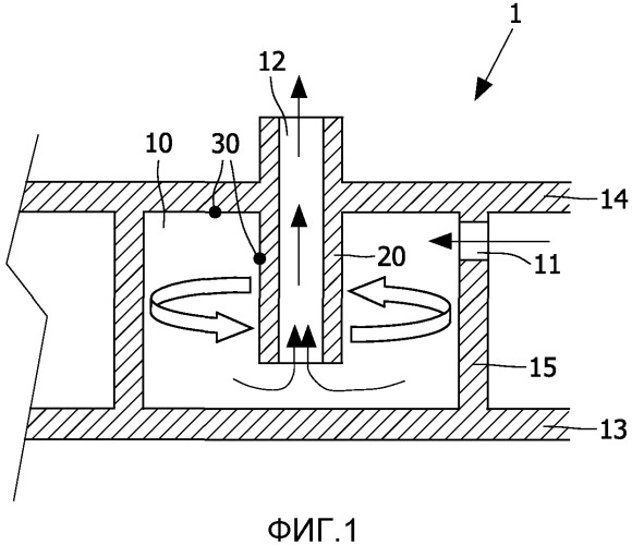 Выпускной узел для пара для использования в подошве парового утюга