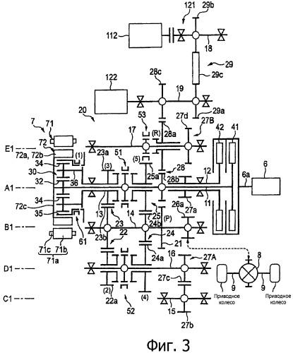 Управляющий блок и способ управления гибридным транспортным средством
