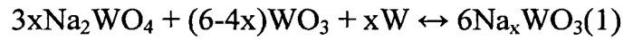 Способ получения порошков оксидных литий-вольфрамовых бронз