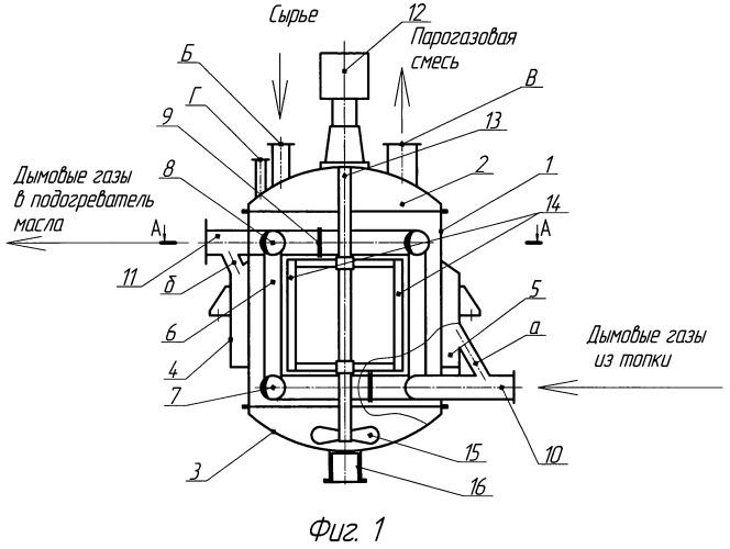 Реактор для утилизации отработанных масел