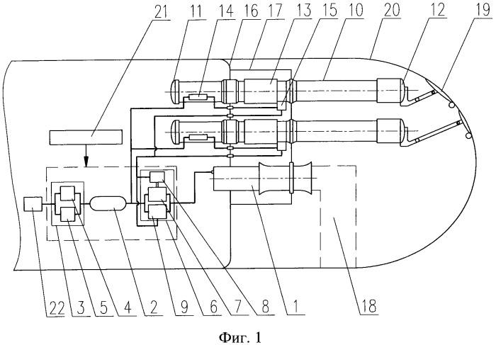 Система стрельбы с гидравлическими торпедными аппаратами