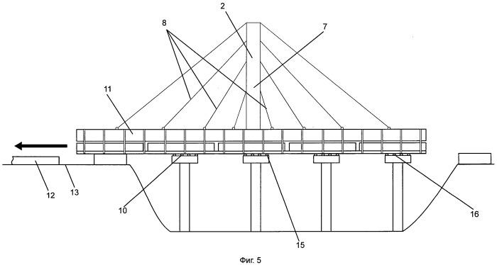 Способ демонтажа балочного железобетонного пролетного строения моста с использованием вантовой системы