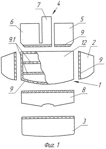 Защитное средство для багажного отделения автомобиля