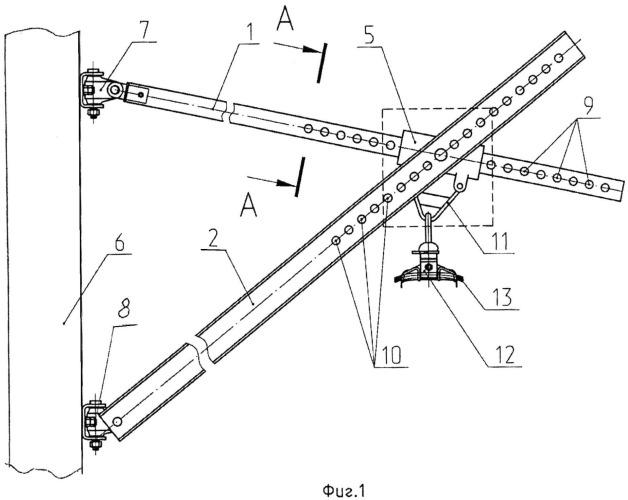 Консоль контактной подвески железной дороги