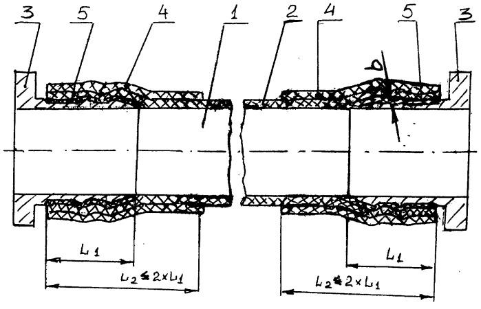 Способ соединения оболочки трубопровода из полимерного композиционного материала с металлической законцовкой