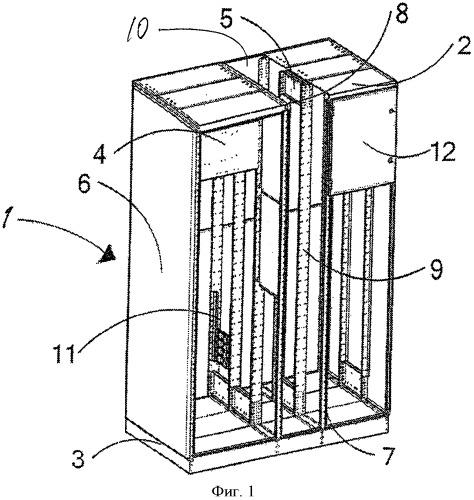 Коробчатый каркас электрического блока