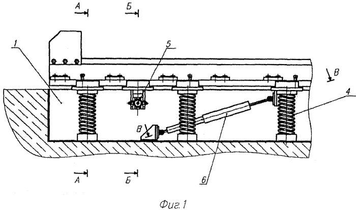 Опорная конструкция перегрузочной машины ядерного реактора