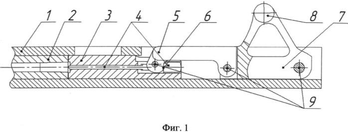 Запирающий механизм кривошипно-шатунного типа