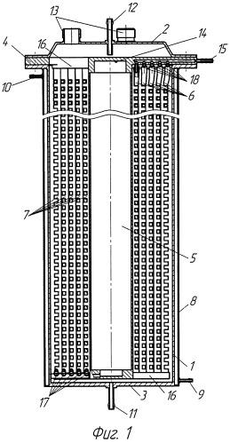 Биореактор с мембранным устройством подвода газового питания