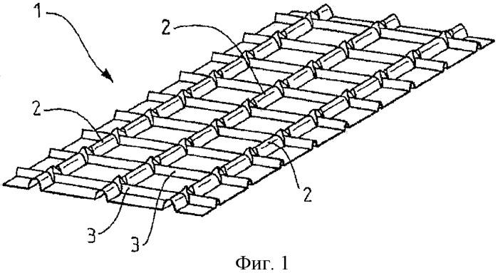Резервуар с армированной гофрированной мембраной и плавучая конструкция, содержащая такой резервуар