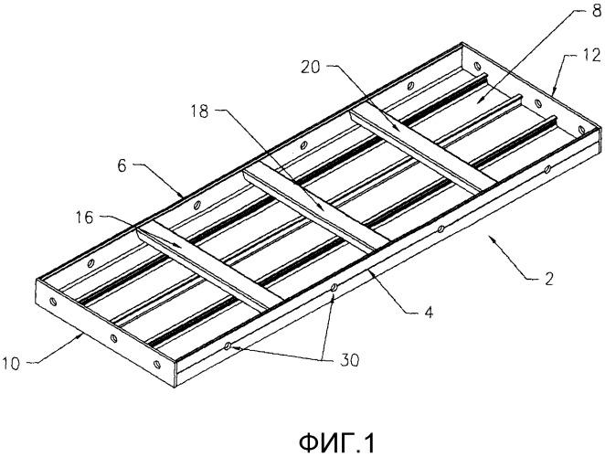 Опалубочный щит для бетонных конструкций
