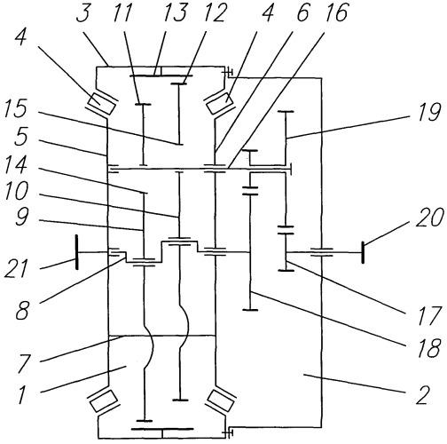 Двухступенчатый планетарно-цевочный редуктор