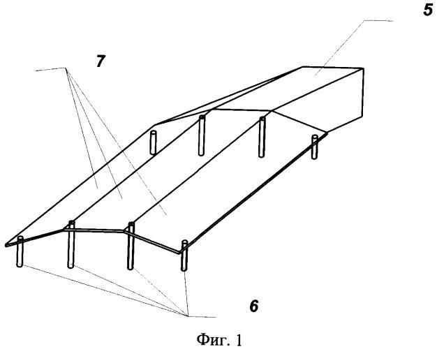 Устройство для проведения гидродинамических испытаний в опытовом бассейне моделей быстроходных судов с воздушной каверной