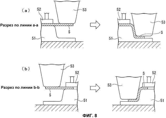 Способ штамповки компонента, имеющего l-образную форму (варианты)