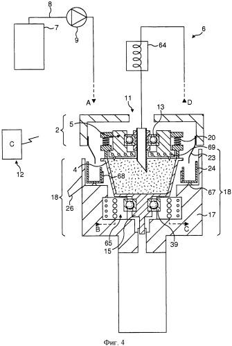 Устройство и способ, использующие центрифугирование для экстракции жидкости, и средства компенсации тепловых потерь