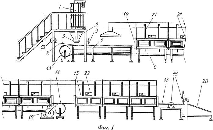 Способ производства пеноматериалов и конвейерная линия для его осуществления