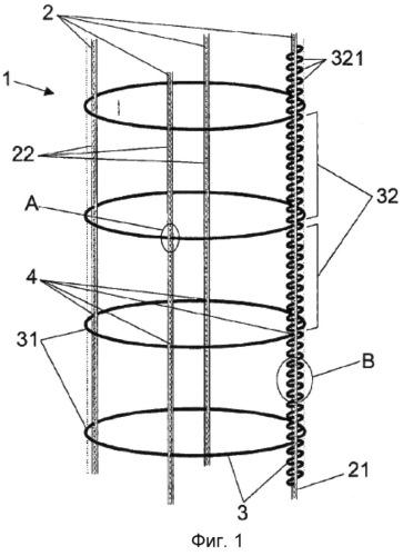 Эластичная сетка продольной формы с замкнутым концом, в частности, для завертывания колбас и продуктов питания