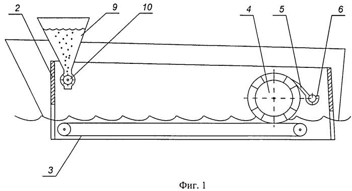 Устройство для сбора нефтепродуктов с поверхности воды