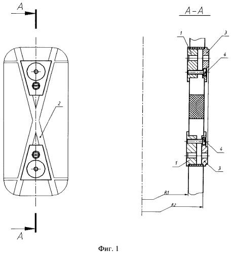 Узел закрепления оборудования к силовой сетчатой конструкции из полимерных композиционных материалов