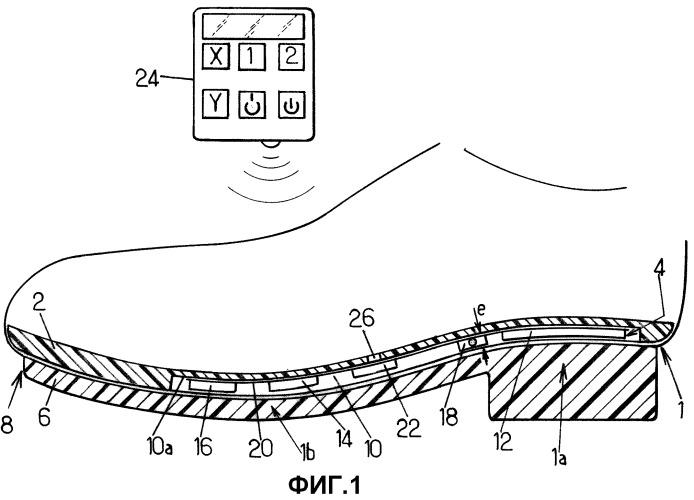 Стелька, содержащая вибрационное устройство