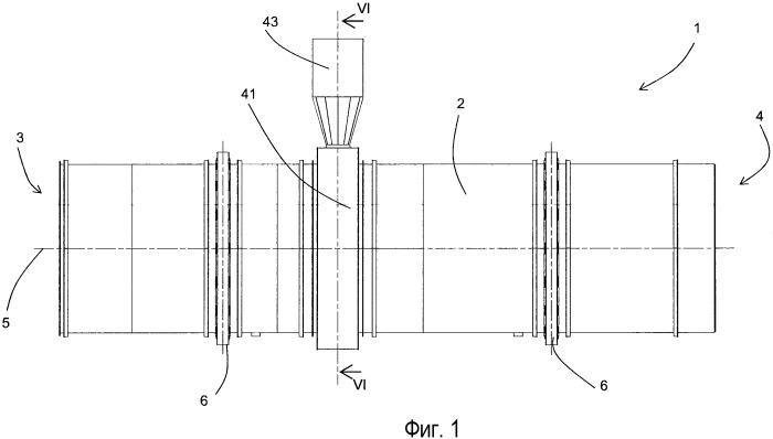 Вращающаяся барабанная сушилка для установок для производства битумных макадамов с применением повторно используемых материалов