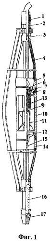 Датчик скважинного расходомера