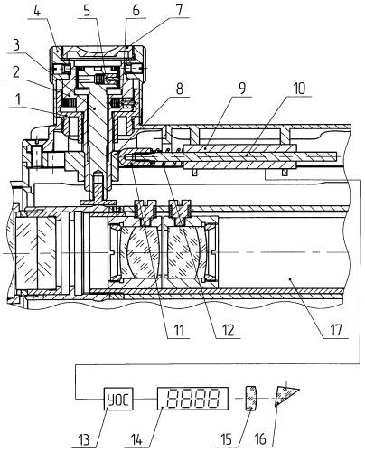 Устройство ввода углов прицеливания и индикации дальности в поле зрения прицела