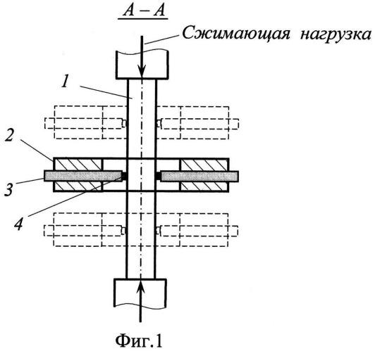 Устройство для испытания на упругопластическое сжатие длинномерных образцов