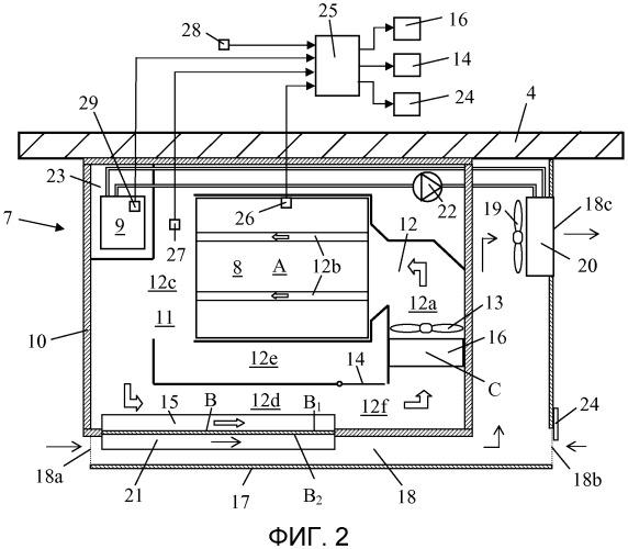 Устройство охладителя, по меньшей мере, для одной аккумуляторной батареи в транспортном средстве