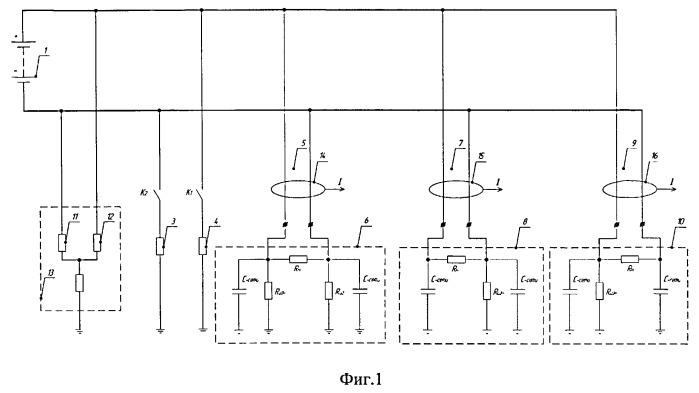 Способ измерения сопротивлений изоляции присоединений и поиска присоединений с поврежденной изоляцией в сети постоянного тока с изолированной нейтралью