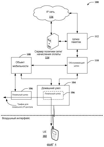 Установление связности сети передачи пакетных данных для трафика локального доступа согласно интернет-протоколу