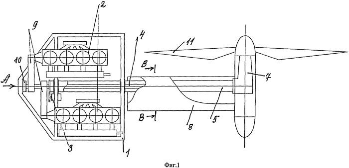 Силовая установка с изменяемым вектором тяги